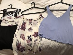 Size small women's clothing (tops, dresses) lot $20