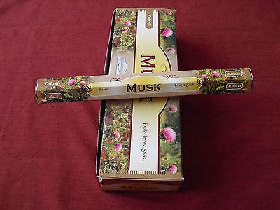 20 Tulasi Moschus Räucherstäbchen incense sticks Indien