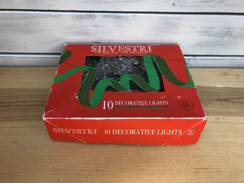 Vintage - Silvestri - 10 Star Shaped Decorative Lights - NOS