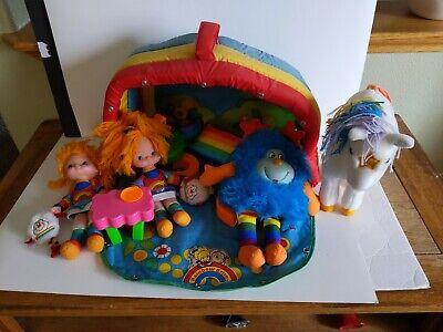 Vintage Mattel 1983 Rainbow Brite Color Cottage Playset And Dolls