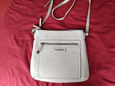 Kangol Crossbody Messenger Bag Neutral Adjustable Strap Pockets