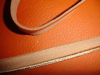 elastisches Band 0,20€/m beige, 10 Meter M10 mit Glanzkante