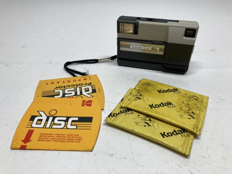 Vintage Kodak Tele Disc Camera With (2) New Disc