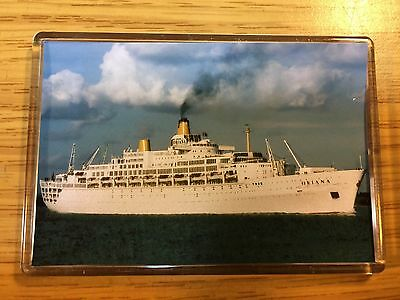 P&O Cruises SS Oriana At Southampton Photo Fridge Magnet Cruise Ship Ocean Liner
