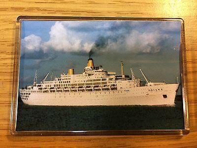 P&O Cruises SS Oriana At Southampton Photo Fridge Magnet Cruise Ship Ocean Liner