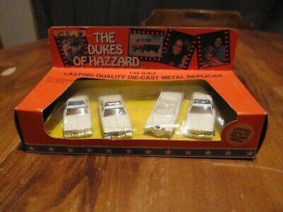 Boss Dukes Of Hazzard (1981 DUKES OF HAZZARD 4-Car Set Die-Cast 1:64 Scale 1570 Sheriff Cars Boss)
