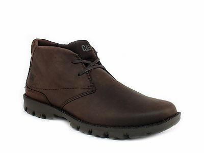 Caterpillar MITCH Mid Cut Mens Slip Resistant Work Casual Chocolate Leather Boot Mid Cut Slip