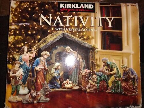 Kirkland Nativity set Creche De Noel  with crystal and gold details Christmas
