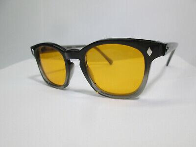 Sunglasses 60s Style Horn Rim Retro Hipster Two Tone Blue Blocker 46 Hoya (Two Tone Sunglasses)