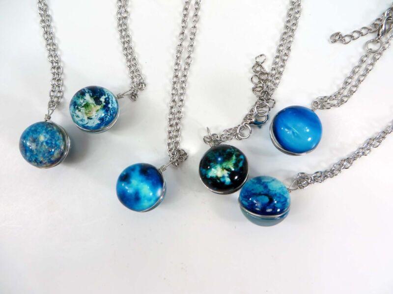 24 pieces bulk lot cheap jewelry glow in the dark glass ball pendant