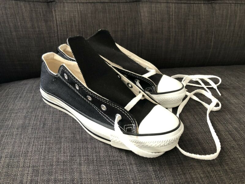 Vintage Anaconda Shoes Low Black Converse All Star Chuck Taylor 6 USA Sneakers
