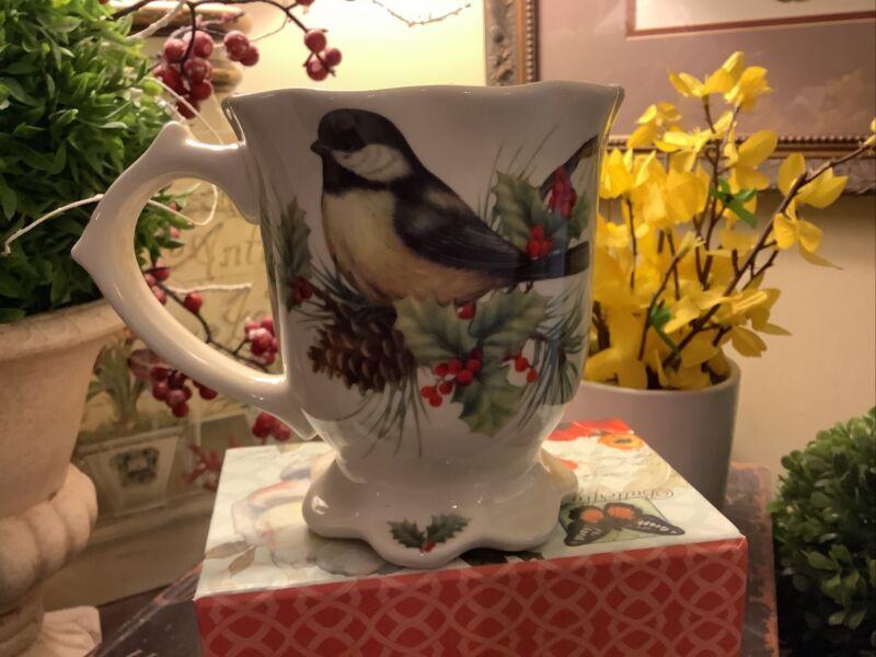 Cracker Barrel~SEASON OF PEACE~Footed Mug~Yellow Finch~FREE SHIPPING~
