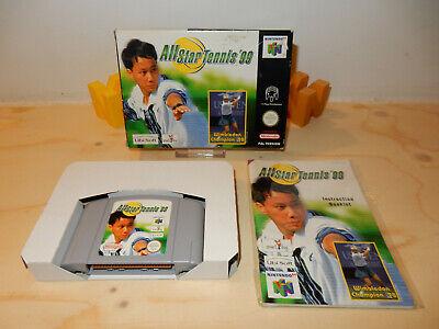 PAL N64: All-Star Tennis 99 (GOOD) Complete OVP Box Boxed Manual Nintendo 64