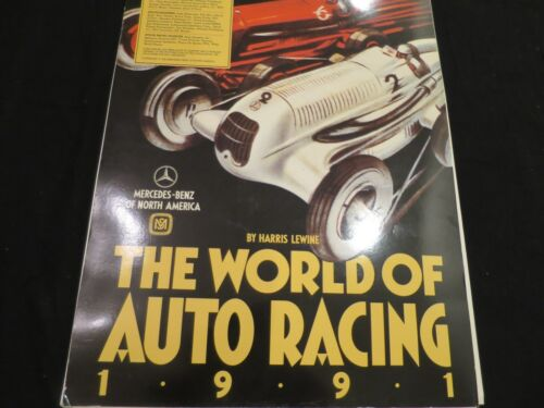 1991 Mercedes Benz Calendar The World of Auto Racing 1991