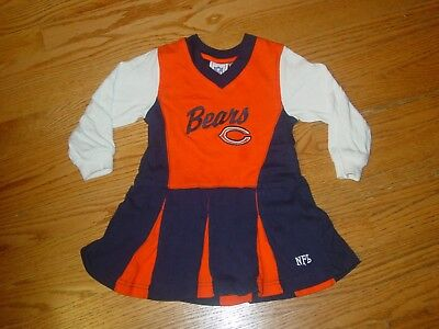 3T Chicago Bears Football Cheerleader Dress Halloween Costume Baby Girls Toddler - Toddler Football Halloween Costumes