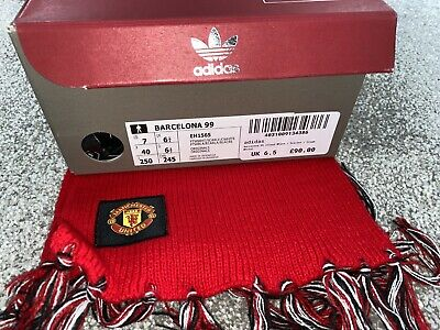 ADIDAS MANCHESTER UNITED BARCELONA 99 SHOES UK 6.5 -RARE DEAD STOCK
