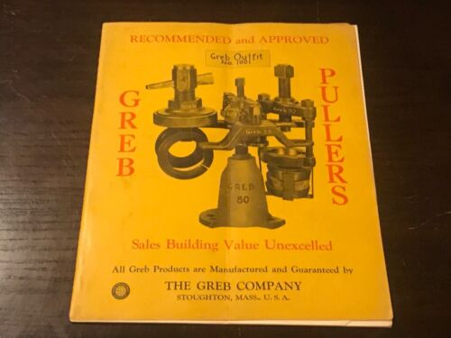 VINTAGE ADVERTISING.AUTOMOBILIA. GREB CO. BOSTON. EARLY PRODUCT PARTS BROCHURE.