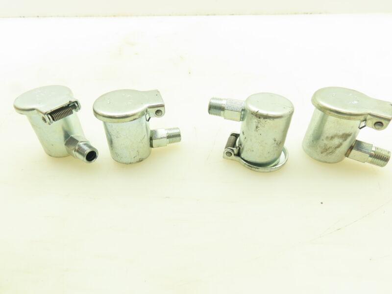 """GITS Mfg Flip Top Oil Cup Machine Oiler 7/8"""" Steel Y Elbow 1/8"""" NPT  Lot of 4"""