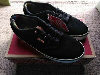 Vans Atwood Deluxe UK5.5 black suede shoes