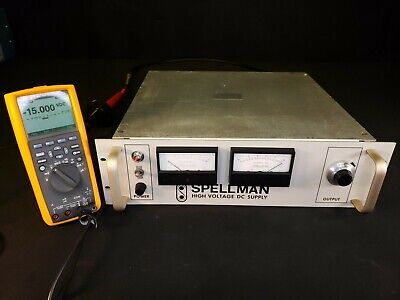 Spellman 15kv Dual Polarity Adjustable High Voltage Power Supply 8ma - Tested