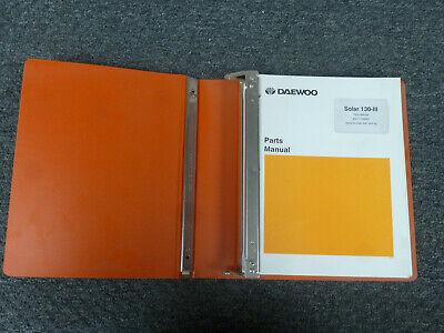 Doosan Daewoo Solar 130-iii Excavator Parts Catalog Manual Sn 0001 Up
