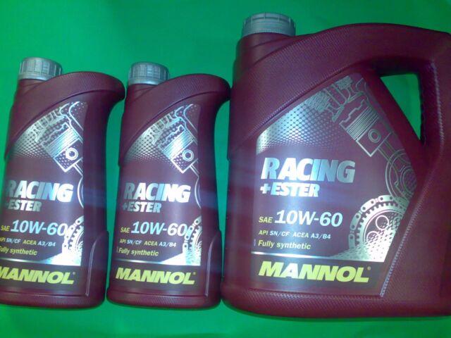 6L 10W60 Motoröl  Mannol Racing+Ester Öl 10W-60 API SN SM API CF ACEA A3 B3 B4