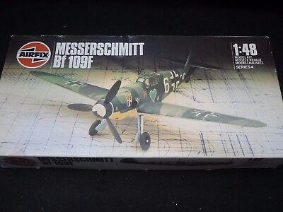 Airfix un made plastic kit of a Messerschmitt BF 109F,  boxed