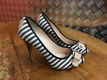 TONY BIANCO - BLK/WHT STRIPED HEEL Waterloo Inner Sydney Preview