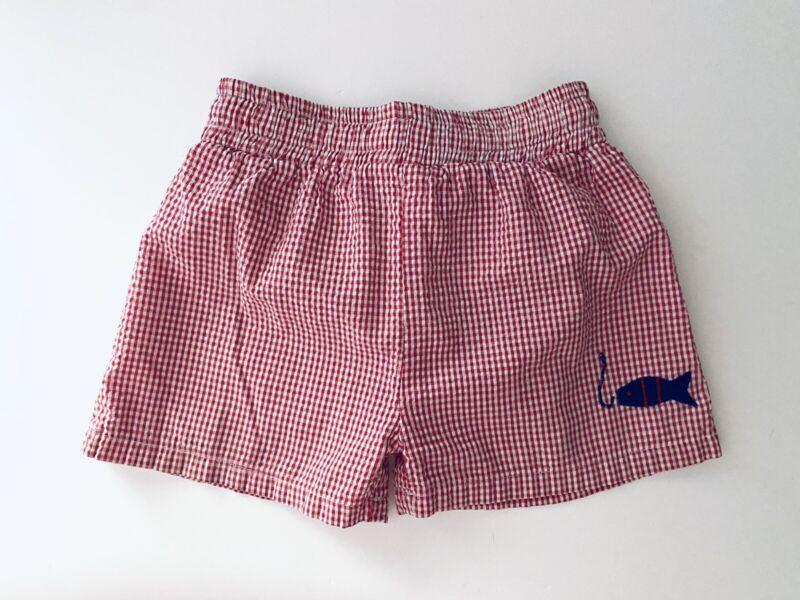 RAGS LAND Smocked Swimsuit 2 pc Bikini Lobsters Toddler Sz5