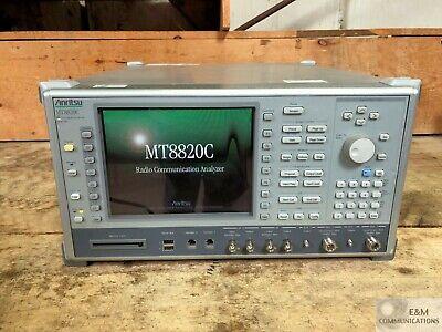 Mt8820c Anritsu 30 Mhz - 2.7 Ghz Radio Communications Analyzer Ser 6200910068