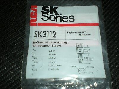 Rca Sk3112 N-ch Junction Fet Transistor To-92