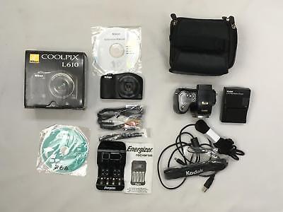 2 Megapixels Kodak Easyshare - Lot of 2 Working Cameras COOLPIX L610 & KODAK EASYSHARE 10X, Zoom, 5 Mega Pixels