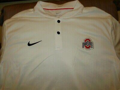 Ohio State Buckeyes NIKE Dri Fit Elite White Blade Polo Golf Shirt Men's 3XL Elite White Blade