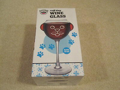 Ruff day Wine Glass by Bigmouth Inc new in box holds 12 ounces Dog lover
