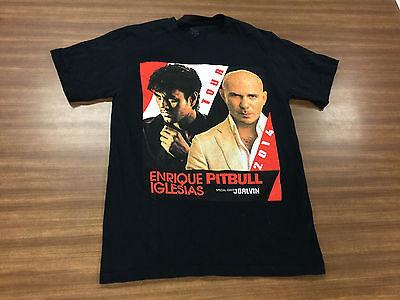 Enrique Iglesias Pitbull JBALVIN U.S. Tour 2014 T-Shirt Adult Size Small Tee