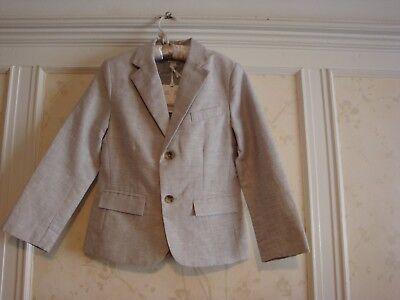 Linen Suit Boys (NWT $109 Janie And Jack  Special Occasion Boys  LINEN SUIT BLAZER  4 )