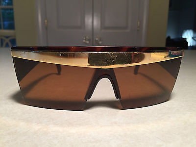 Vintage 1980's GIANNI VERSACE UPDATE Model 676 SUNGLASSES Tortoise Lady Gaga