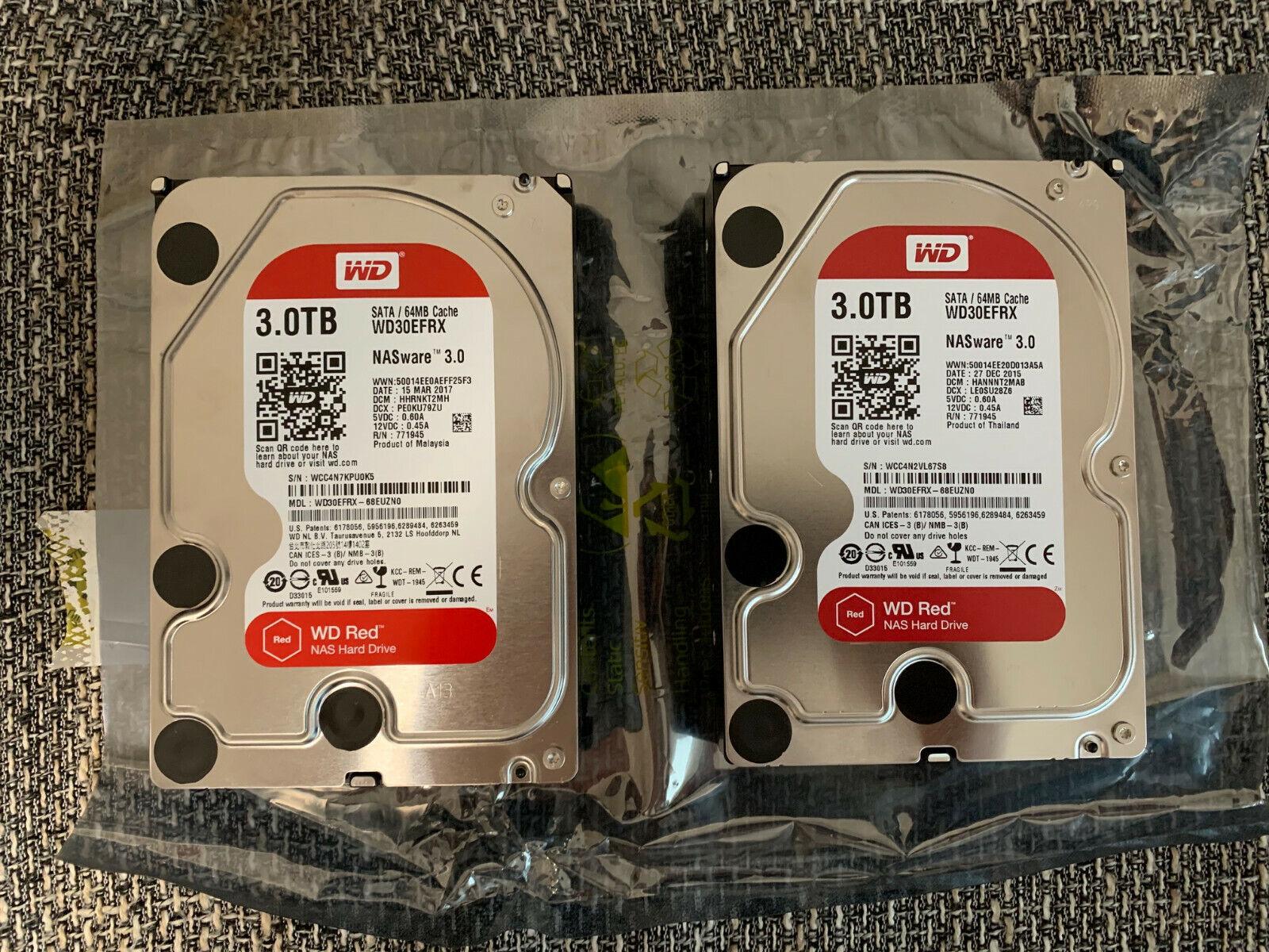 2 x WD Western Digital WD30EFRX Red 3TB Festplatte NAS