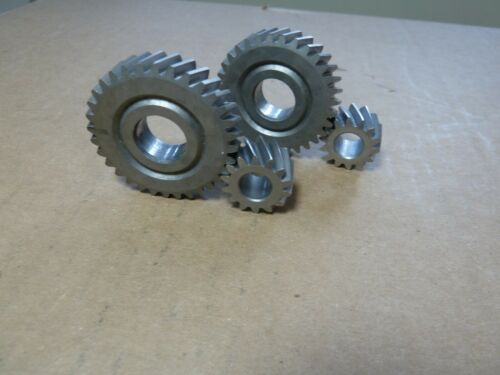 helical spur  gear pairs 14 t and 32 t / 2.29:1 ratio 4 pieces hardened steel