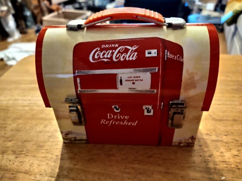 """COCA-COLA TIN LUNCH BOX   5"""" x 4 """""""