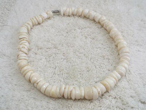 Genuine Jumbo Hawaiian Puka Cap Shell Necklace (C48)