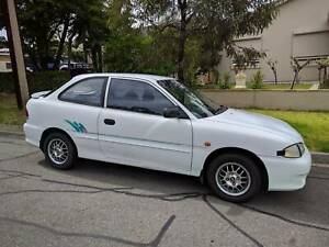 1997 HYUNDAI EXCEL SPRINT HATCHBACK 5 Speed MANUAL, White colour