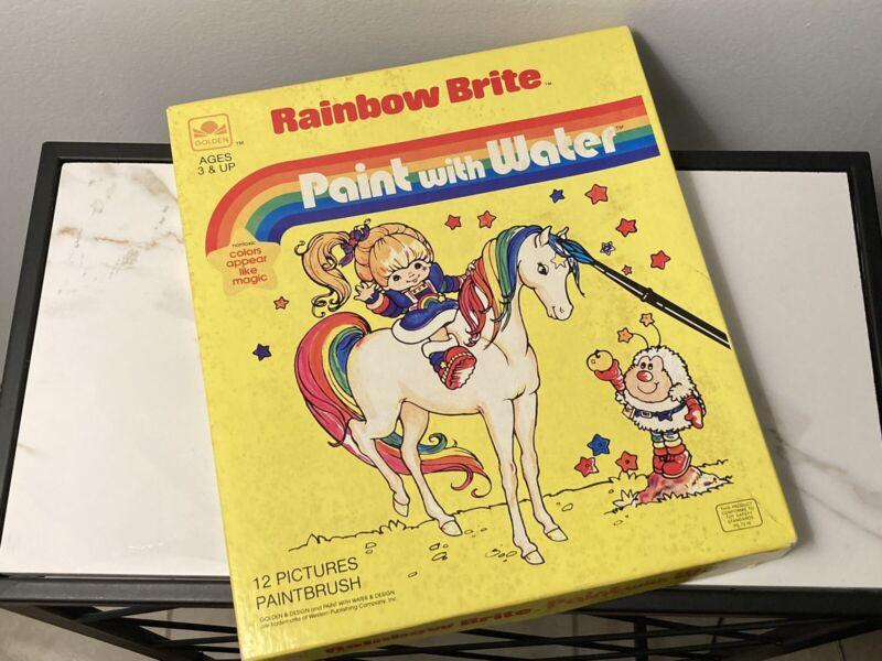 Rainbow Brite Paint With Water 1983 Golden Design Vintage New Unused