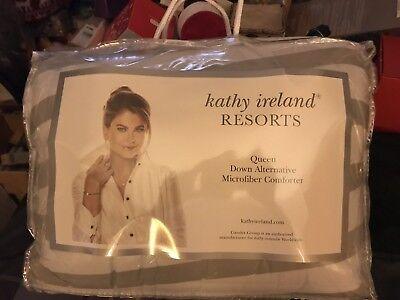 KATHY IRELAND RESORTS Queen Down Alternative microfiber COMFORTER