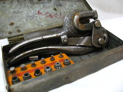 1913 Vintage Whitney Sheet Metal Punch No. 5 Metal Working Tool Machinery