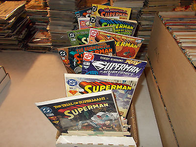 Lot of 50 Different Superman Comic Book Gift Grab Bag Action Adventures Doomsday