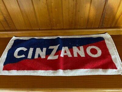 VINTAGE CINZANO BAR TOWEL BAR MAT MANCAVE 1980s RARE COLLECTABLE