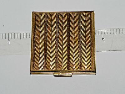 Vintage Evans Square Gold Tone Powder Compact