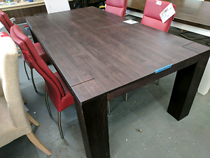 Stained Tas Oak Timber Dining Table - 60% off RRP Eumemmerring Casey Area Preview