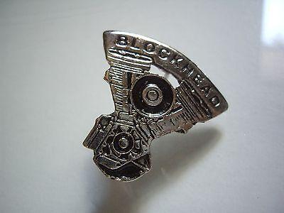 Harley Davidson Motorcycle Blockhead Engine Pin Factory HD Evolution Motor Badge